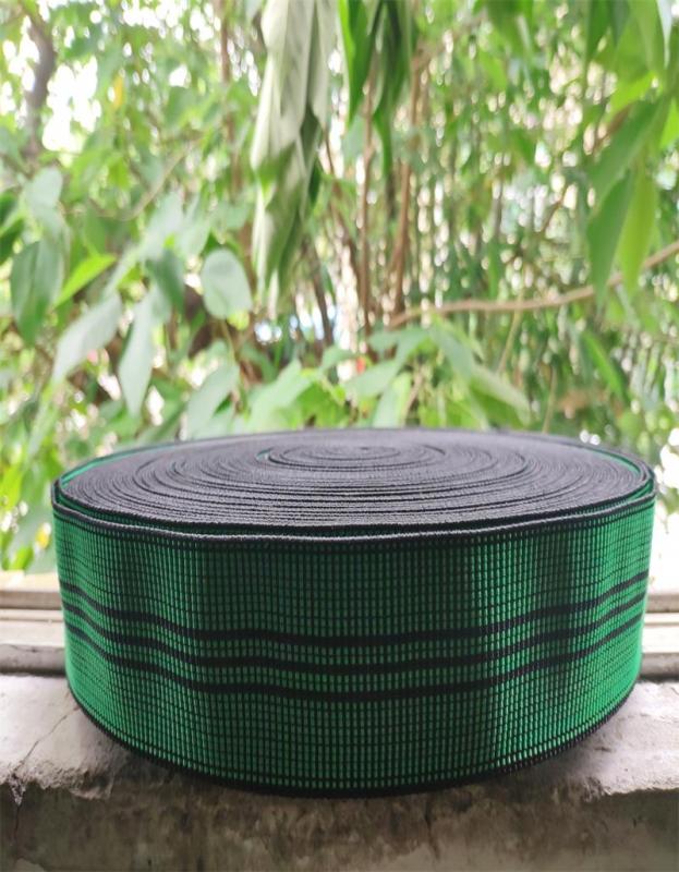 上海绿色黑条松紧带